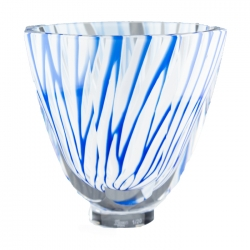 Blue and White Swirl Vase