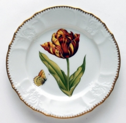 Old Master Tulips Red, Yellow and Orange Tulip Salad Plate
