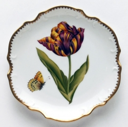 Old Master Tulips Red, Yellow and Orange Tulip Bread and Butter Plate