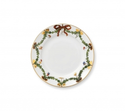 Star Fluted Christmas Dessert Plate