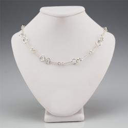 Sterling Bit Necklace