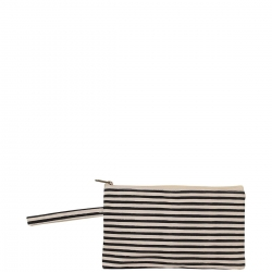 Natural and Black Striped Clutch