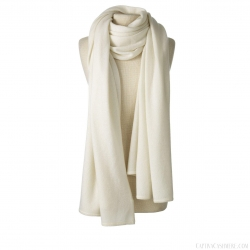 Ivory Cashmere Travel Wrap