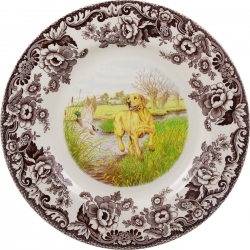 Woodland Yellow Labrador Dinner Plate