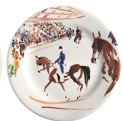 Cavaliers Dressage Set of Four Dessert Plates