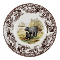Woodland Black Bear Salad Plate