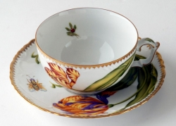 Old Master Tulips Tea Cup and Saucer