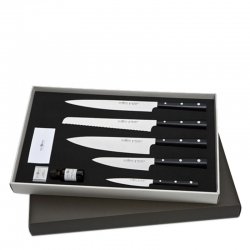 Black Resin Handled Five Piece Knife Set