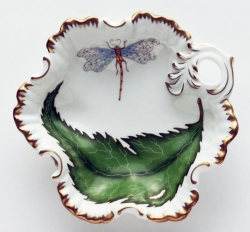 Green Leaf Ruffled Bowl