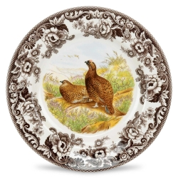 Woodland Red Grouse Dinner Plate