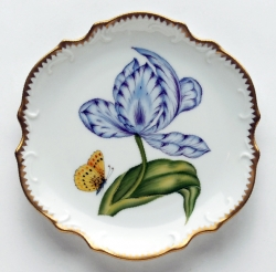 Old Master Tulips Purple and Blue Tulip Bread and Butter Plate