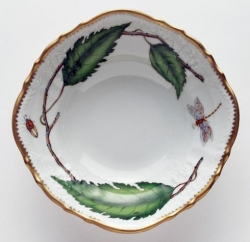 Green Leaf Round Open Vegetable Bowl