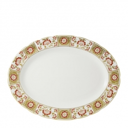 Derby Panel Red Large Oval Platter