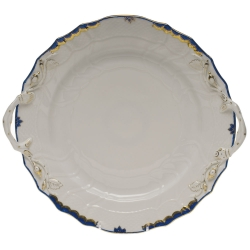 Princess Victoria Blue Chop Plate with Handles