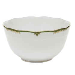Princess Victoria Dark Green Round Bowl