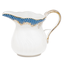 Fish Scale Blue 6 Ounce Creamer