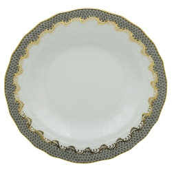 Fish Scale Gray Rim Soup Plate