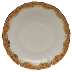 Fish Scale Rust Canton Saucer