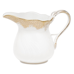 Fish Scale Gold 6 Ounce Creamer