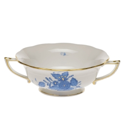 Chinese Bouquet Blue Cream Soup Cup
