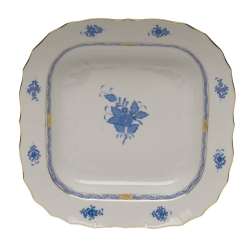 Chinese Bouquet Blue Square Fruit Dish