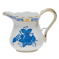 Chinese Bouquet Blue 6 Ounce  Creamer