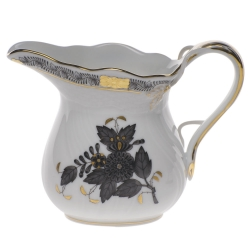 Chinese Bouquet Black 6 Ounce Creamer