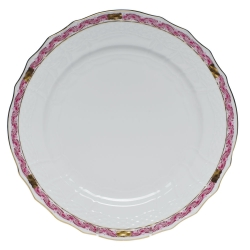 Chinese Bouquet Garland Raspberry Service Plate