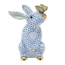 Blue Bunny with Butterfly
