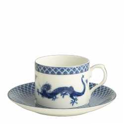Blue Dragon Can Cup and Saucer