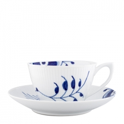 Blue Mega Tea Cup and Saucer