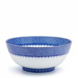 Blue Lace Round Bowl
