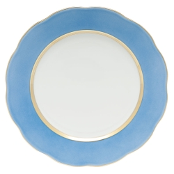 Silk Ribbon Cornflower Service Plate