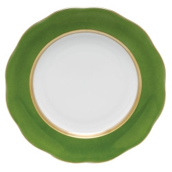Silk Ribbon Fern Dessert Plate
