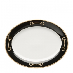 Cheval Black Large Oval Platter