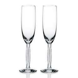 Diamant Champagne Flutes, Set of 2