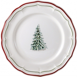 Filet Noel Set of Four Dinner Plates
