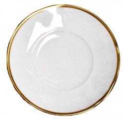 Simply Elegant Gold Bread and Butter Plate