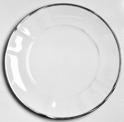 Simply Elegant Platinum Dinner Plate