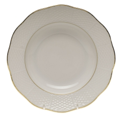 Golden Edge Rim Soup Plate