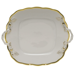 Gwendolyn Square Cake Plate with Handles