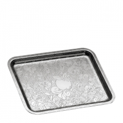Jardin d'Eden Small Silver Plated Rectangular Tray