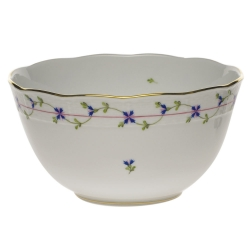 Blue Garland Round Bowl