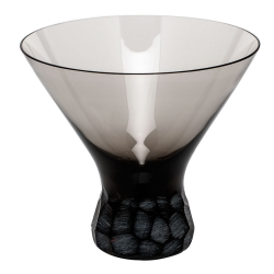 Pebbles Smoke Stemless Martini Glass