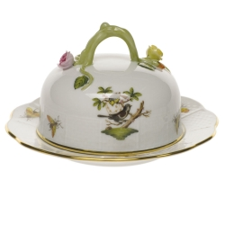 Rothschild Bird Covered Butter Dish