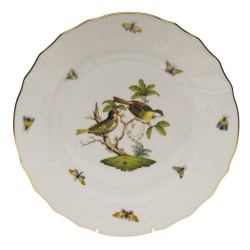 Rothschild Bird Dinner Plate, Motif #11