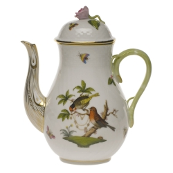 Rothschild Bird Coffee Pot with Rose