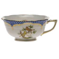Rothschild Bird Blue Border Tea Cup - Motif #6