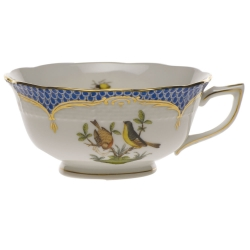 Rothschild Bird Blue Border Tea Cup - Motif #7