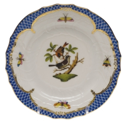 Rothschild Bird Blue Border Bread and Butter Plate, Motif #4